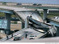 Взрыв бензовоза на мосту