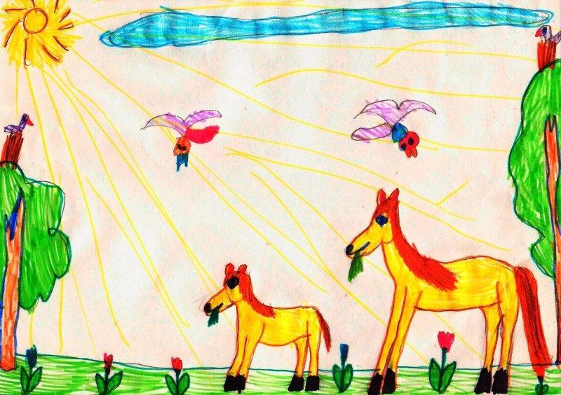 детские рисунки веселые конкурс