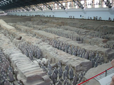 Закопанная армия Терракота (22 фото)