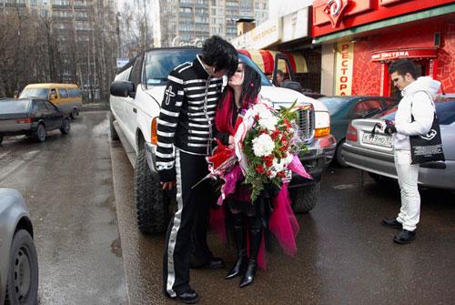 Готическая свадьба (17 фото)