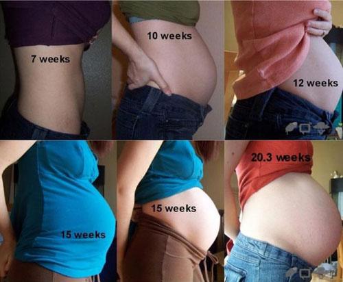 Какого размера живот у беременной 80