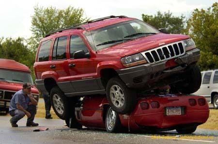 Самые нелепые автомобильные аварии.