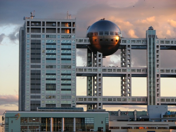 47. Fuji television building (Tokyo, Japan)