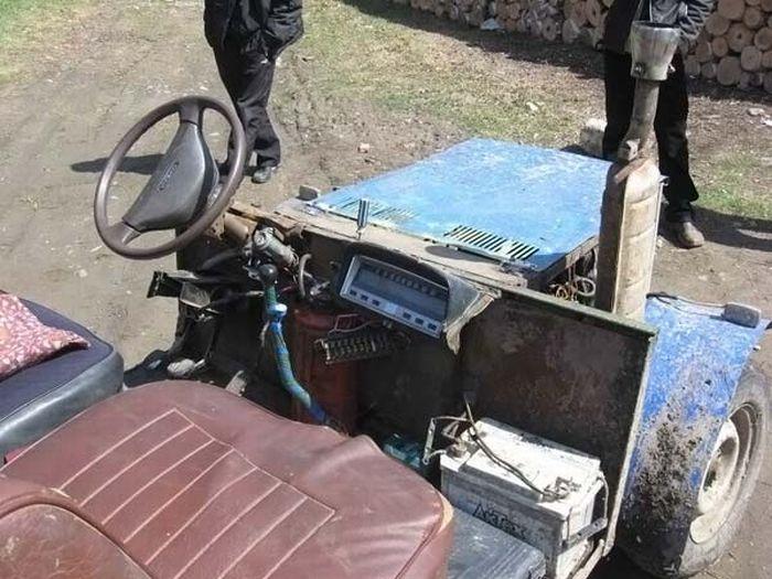 Как сделать трактор из жигулей своими руками