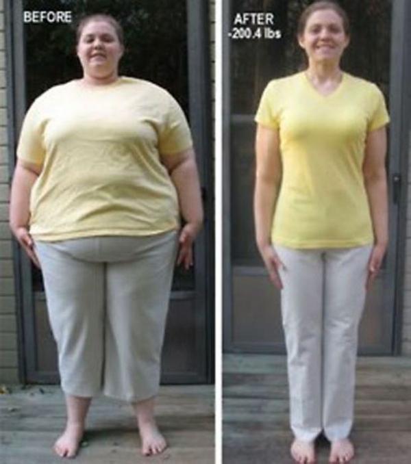 До и после диеты и спорта