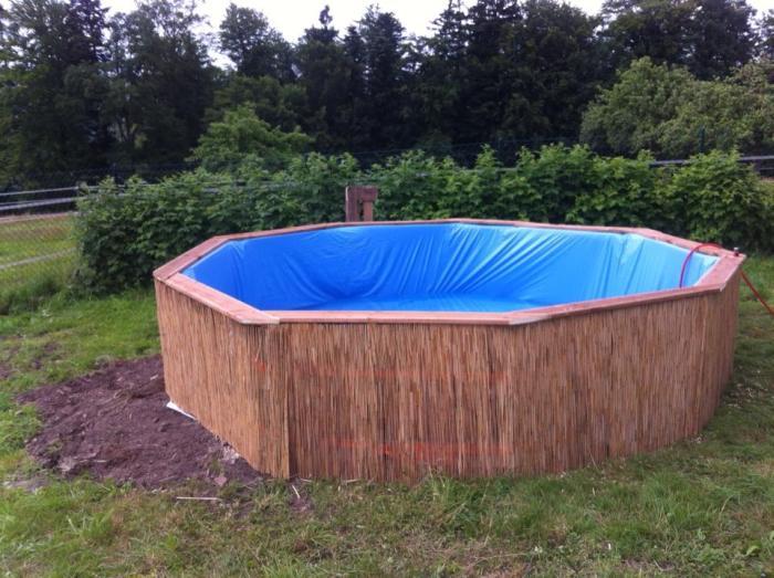 Бассейн для дачи из поддонов своими руками