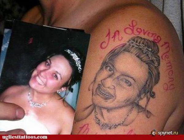 Ужасные татуажи