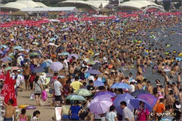 Все китайцы хотят на пляж! (10 фото)