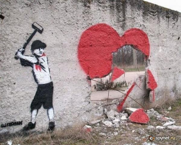 Социальное арт-граффити от Шарика (20 фото)