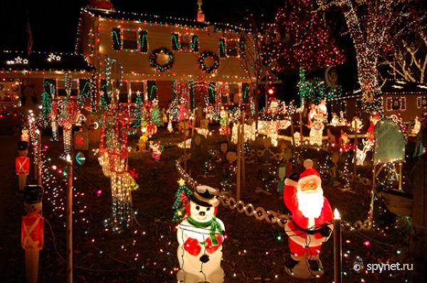 Как украсить дом на рождество фото своими руками