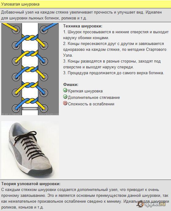 Как завязывать шнурки (19 способов)