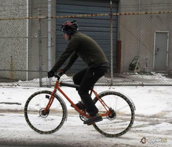 Тюнинг велосипеда в морозы (4 фото)