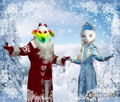 Спайнет  анимирует по-новогоднему