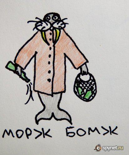 Морж-Бомж, Пеликан-Казахстан... (14 фото)