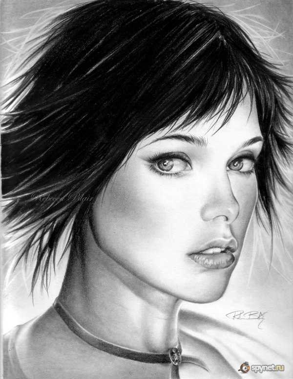 красивые нарисованные картинки девушек карандашом: