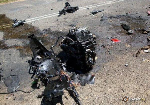 Авария на Kawasaki ZX-14 (12 фото)