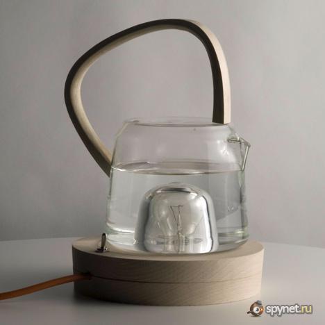 Кипятим чай на лампочке (5 фото)