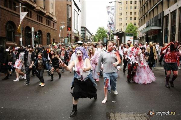 зомби в Мельбурне