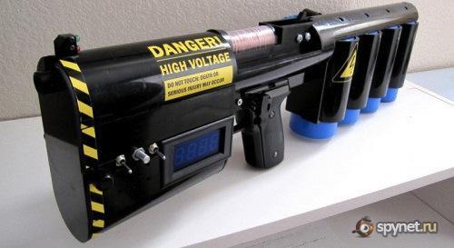 Пушка Гаусса собранна в домашних условиях