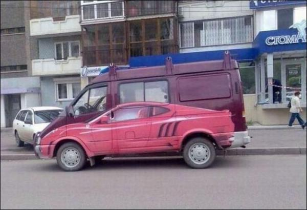 Забавные и необычные автомобили (43 фото)