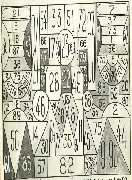 В СССР существовала таблица для проверки наблюдательности. Ее название