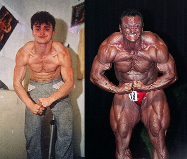 качки мужчины до и после фото
